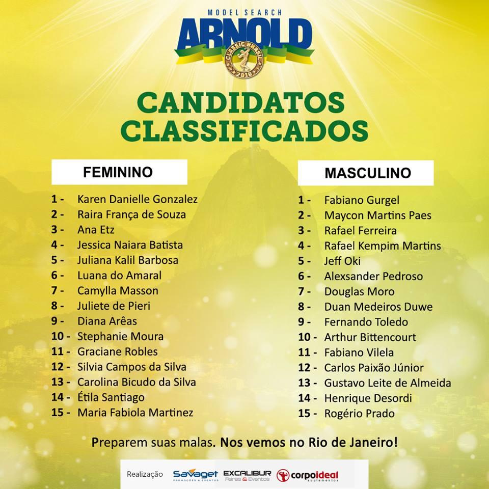 Arnold Model Search Brasil - Revista Correr