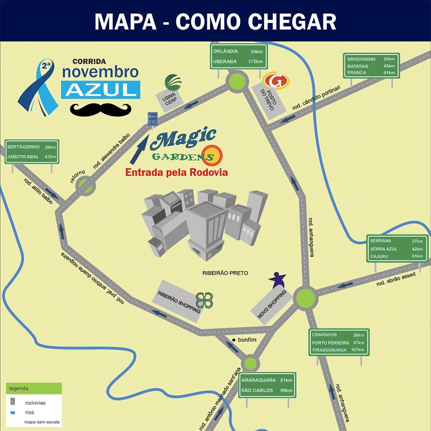 Corrida Novembro Azul - Revista Correr - Mapa - Como Chegar Ribeirao Preto