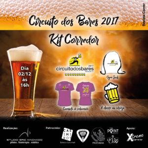 corrida circuito dos bares 2017 - revista correr KIT