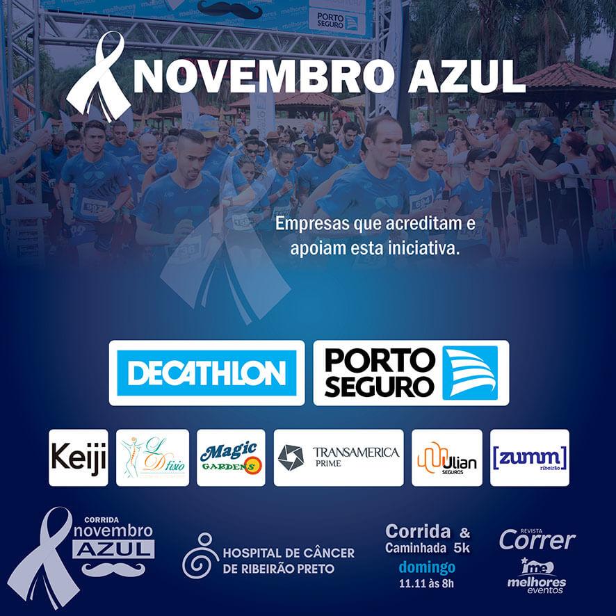 Corrida Novembro Azul 2018 | Revista Correr | APOIADORES