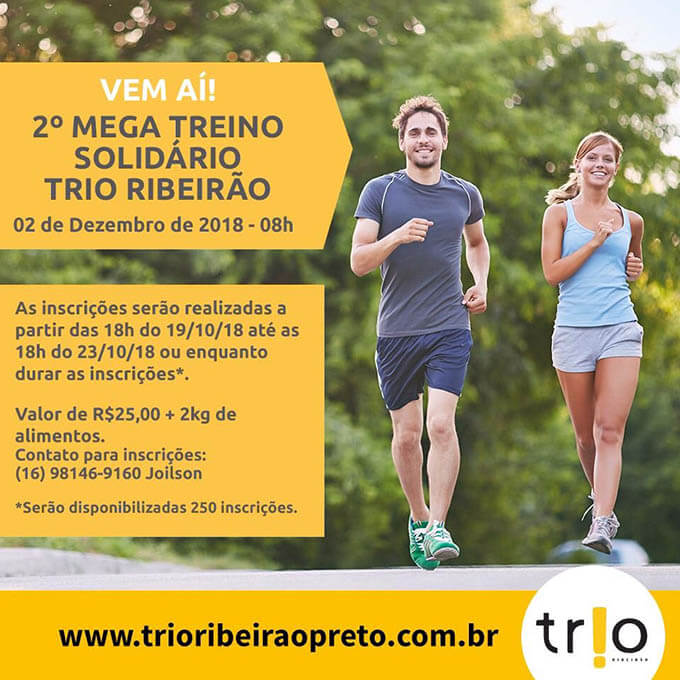 Mega Treino Solidário Trio Ribeirão 2018   Revista Correr
